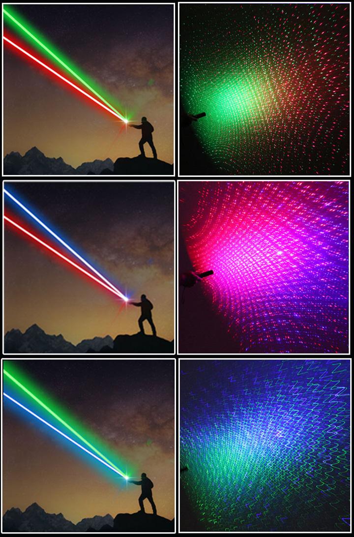 laser multicolore
