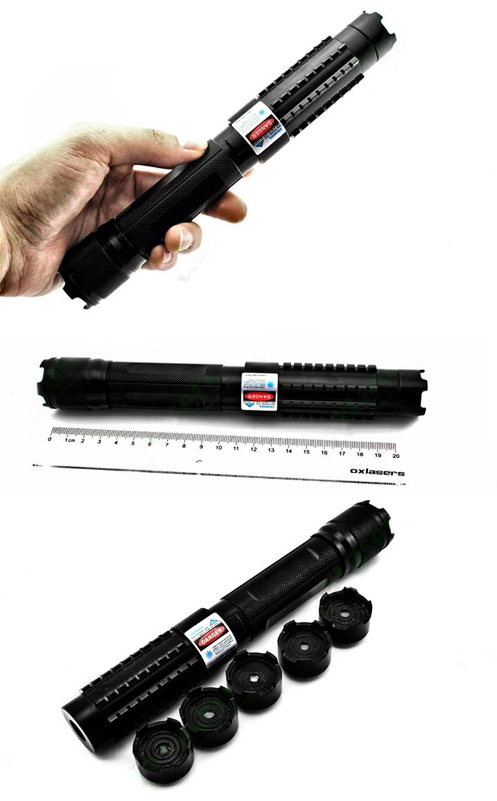 Pointeur laser vert 500mW avec des piles