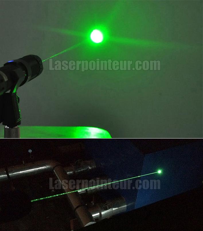 Pointeur laser vert 500mW rechargeable très puissant