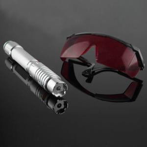 Pointeur laser vert 500mW avec des lunettes laser